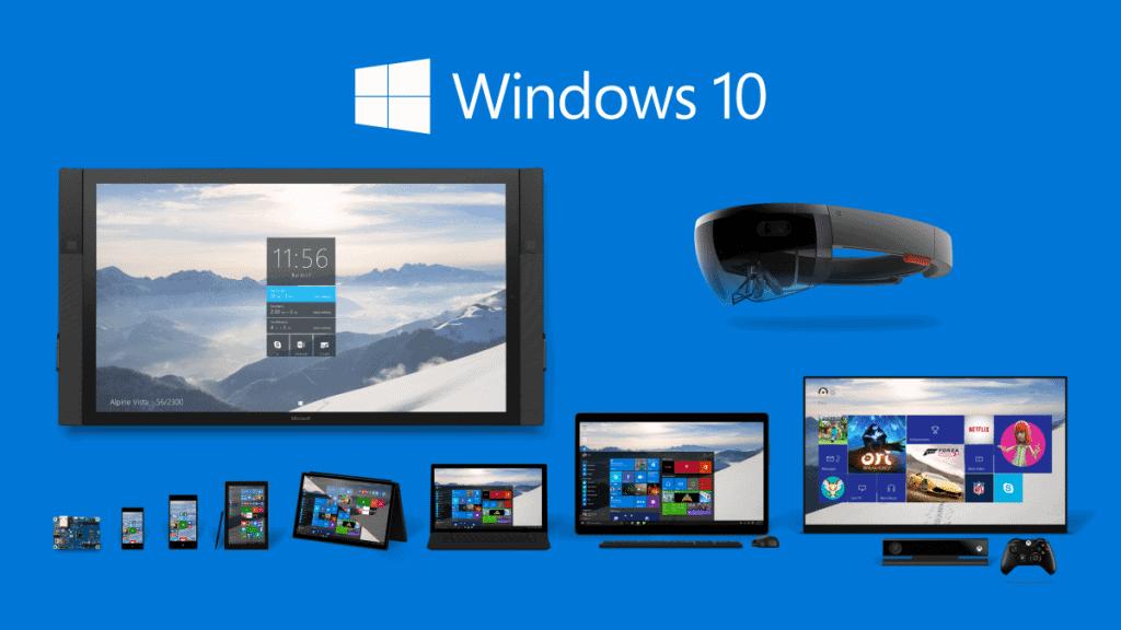 Windows 10 sur différents appareils