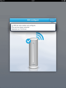 Installation de la station netatmo et configuration du wifi en bluetooth à partir de l'application mobile