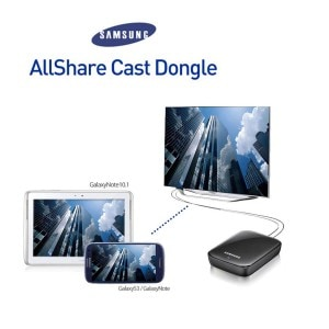 Samsung propose également un dongle pour effectuer du screen miroring au travers de AllShare Cast