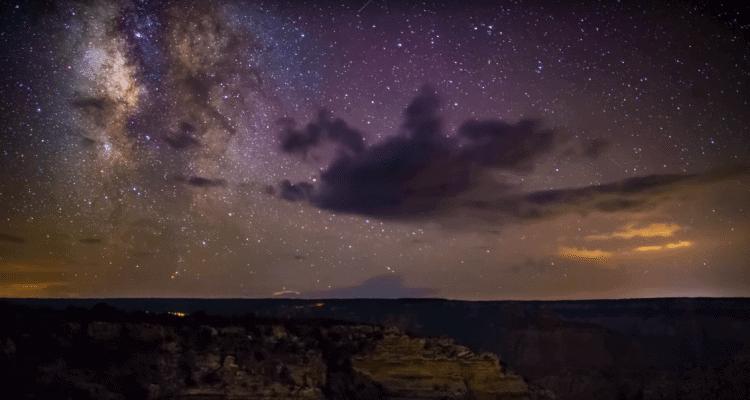 Timelapse ciel étoilé nocturne