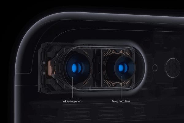 Les 2 objectifs de l'iPhone 7 Plus