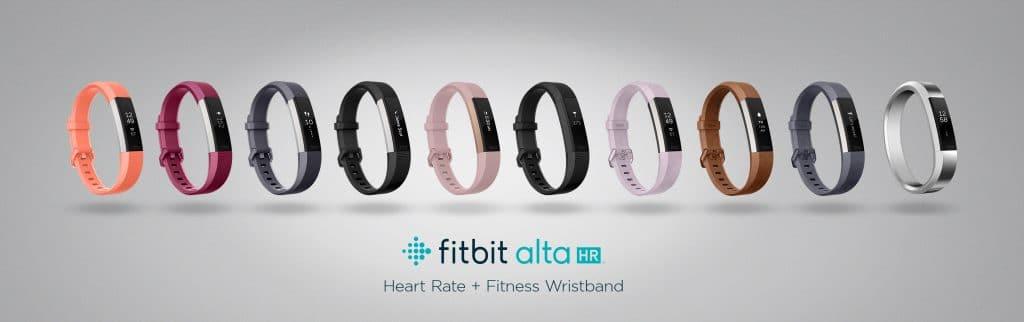 Coloris des différents bracelets connectés Fitbit Alta HR