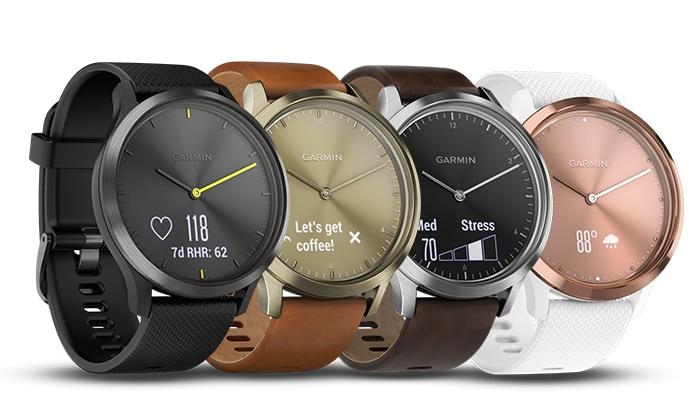 Les différents modèles de la montre hybride tracker d'activité Garmin vivomove HR