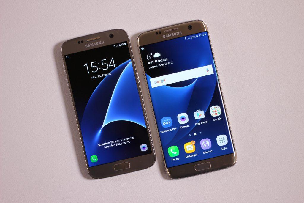 Le Samsung Galaxy S7 Edge face au Samsung Galaxy S7