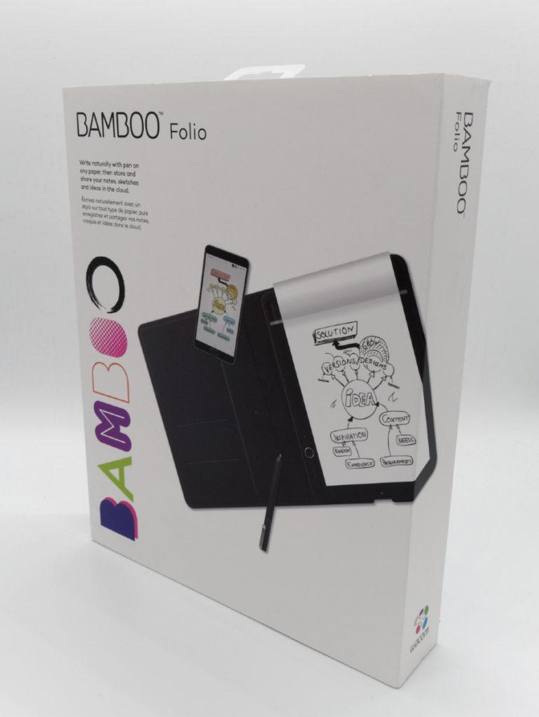 Packagind du bloc note connecté Wacom Bamboo Folio