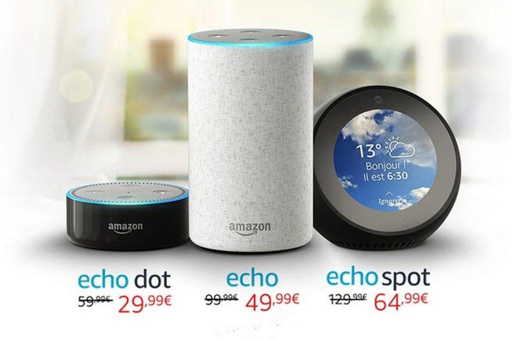 Les prix des différents modèles Amazon Echo pour sa sortie en France